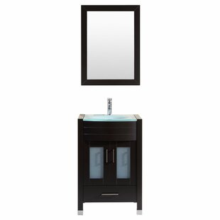 Peterman Modern 24 Single Bathroom Vanity Set with Mirror By Orren Ellis