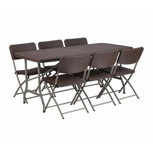 Petrey 7 Piece Dining Set by Red Barrel S..