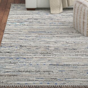 Havelock Striped Contemporary Hand Woven Gray Area Rug