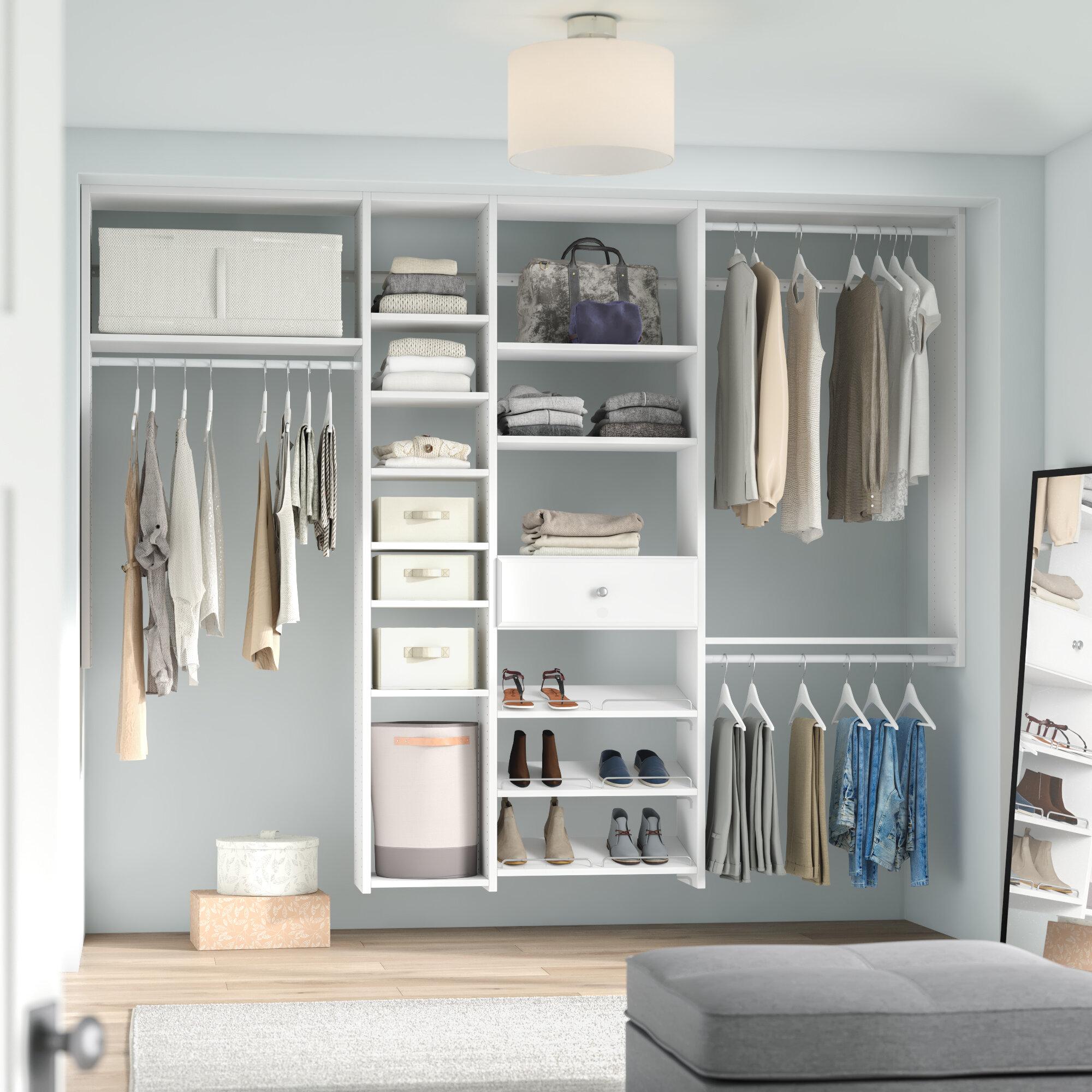 Dotted Line Grid 60 W 108 W Shoe Storage Closet Kit Reviews Wayfair