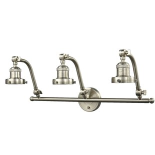 Burlingame Bulb 3-Light Vanity Light by Williston Forge
