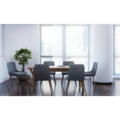 Brayden Studio Michie 7 Piece Dining Set Upholstery Color: Dark Gray