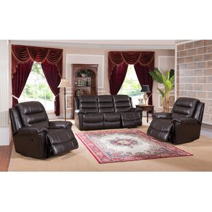 Lorretta Reclining 3 Piece Living Room Set by Red Barrel Studio