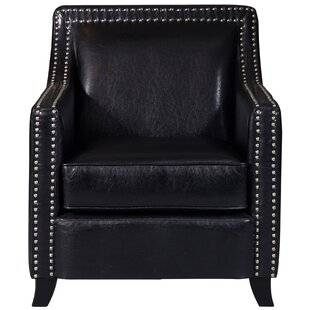 Grandwood Faux Leather Swoop Club Chair by Alcott Hill