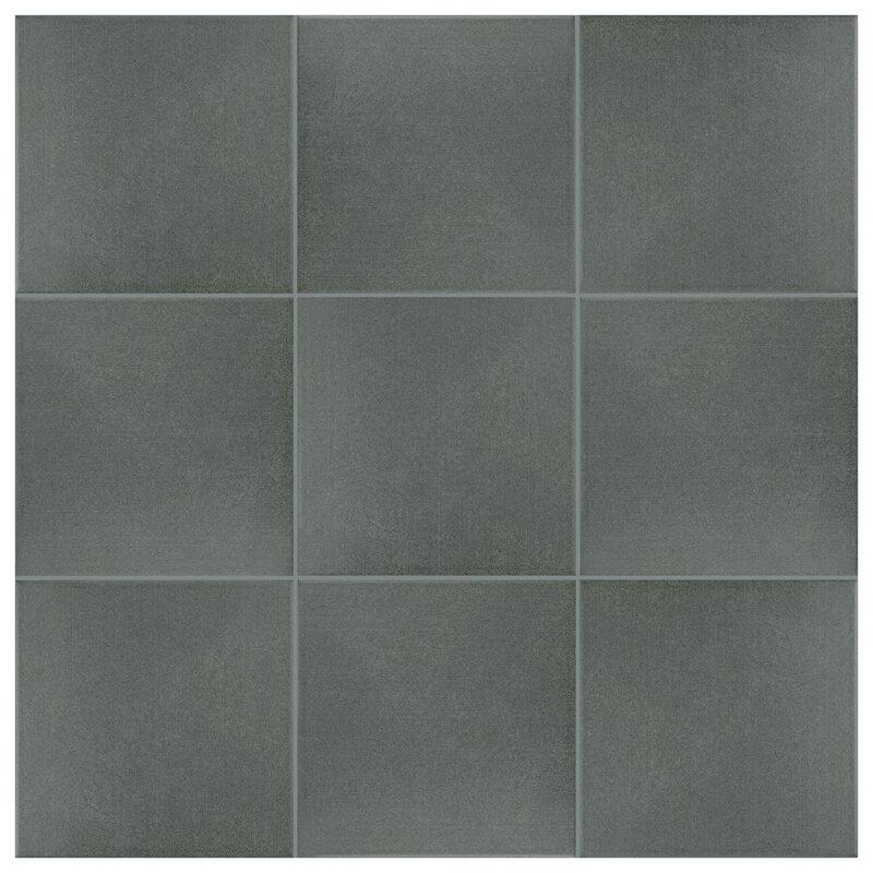 Elitetile Forties 775 X 775 Ceramic Field Tile In Blackcharcoal