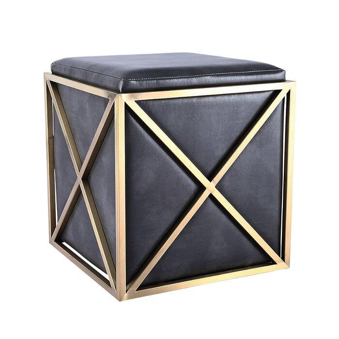 Enjoyable Seamus Elegant Leather Vanity Stool Alphanode Cool Chair Designs And Ideas Alphanodeonline