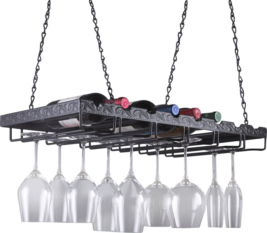 pottery wine zoom wrought image iron vintners hanging over products mount c to wall barn rack roll