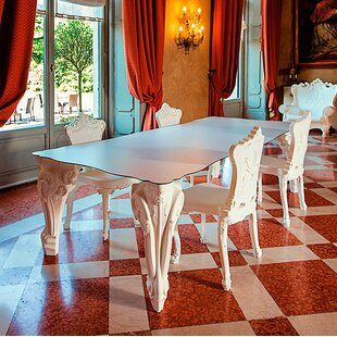 Kierra Plastic/Resin Dining Table by Rosdorf Park