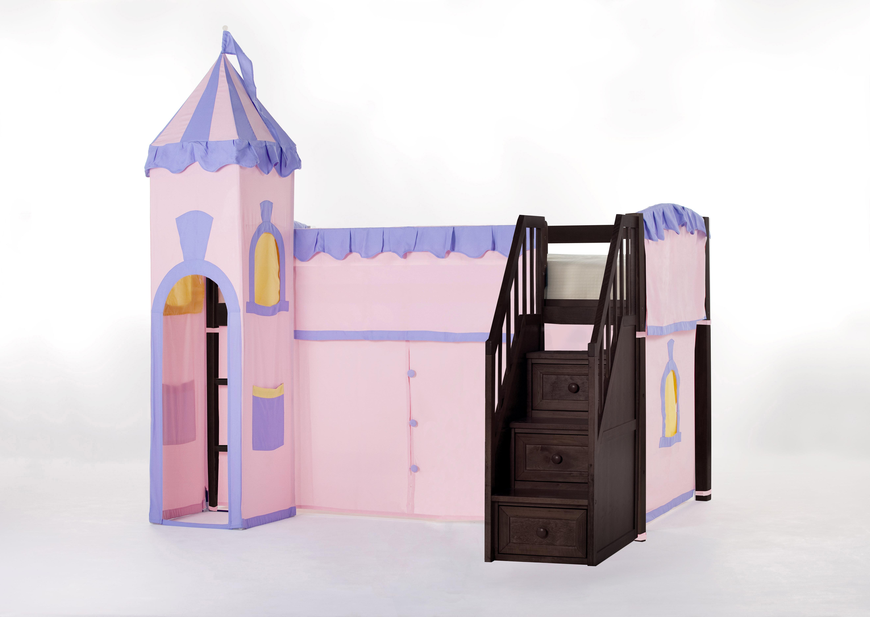 Harriet Bee Lyric Princess Loft With Stairs   Wayfair