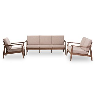 Best Deals Leaman Mid-Century Modern 3 Piece Living Room Set by Millwood Pines Reviews (2019) & Buyer's Guide