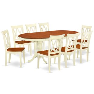 Raul 9 Piece Extendable Solid Wood Dining Set