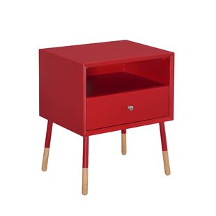Latitude Run Meagher 1-Drawer End Table with Storage