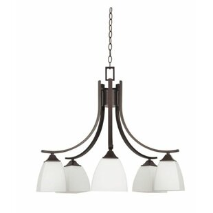 Winston Porter Wooten Down 5-Light Shaded Chandelier