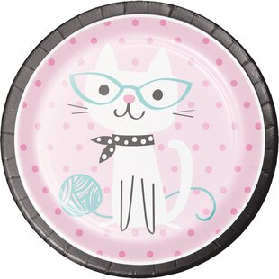 Cat Party Paper Plate (Set of 24)