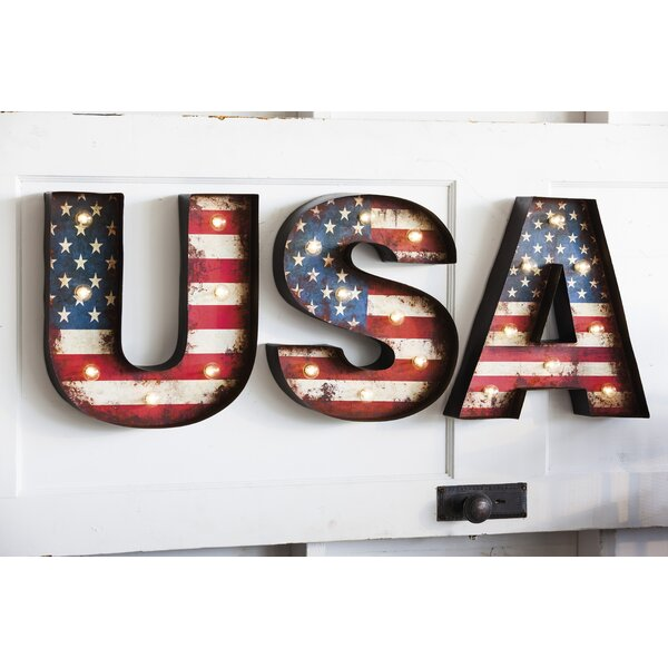 USA Metal LED Wall Decor - Patriotic wall art decor