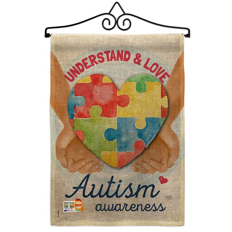 Breeze Decor Understand Autism Awareness Burlap Inspirational Support 2 Sided Polyester 19 X 13 In Garden Flag Wayfair