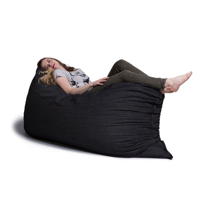 Astonishing Denim Large Bean Bag Lounger Beatyapartments Chair Design Images Beatyapartmentscom