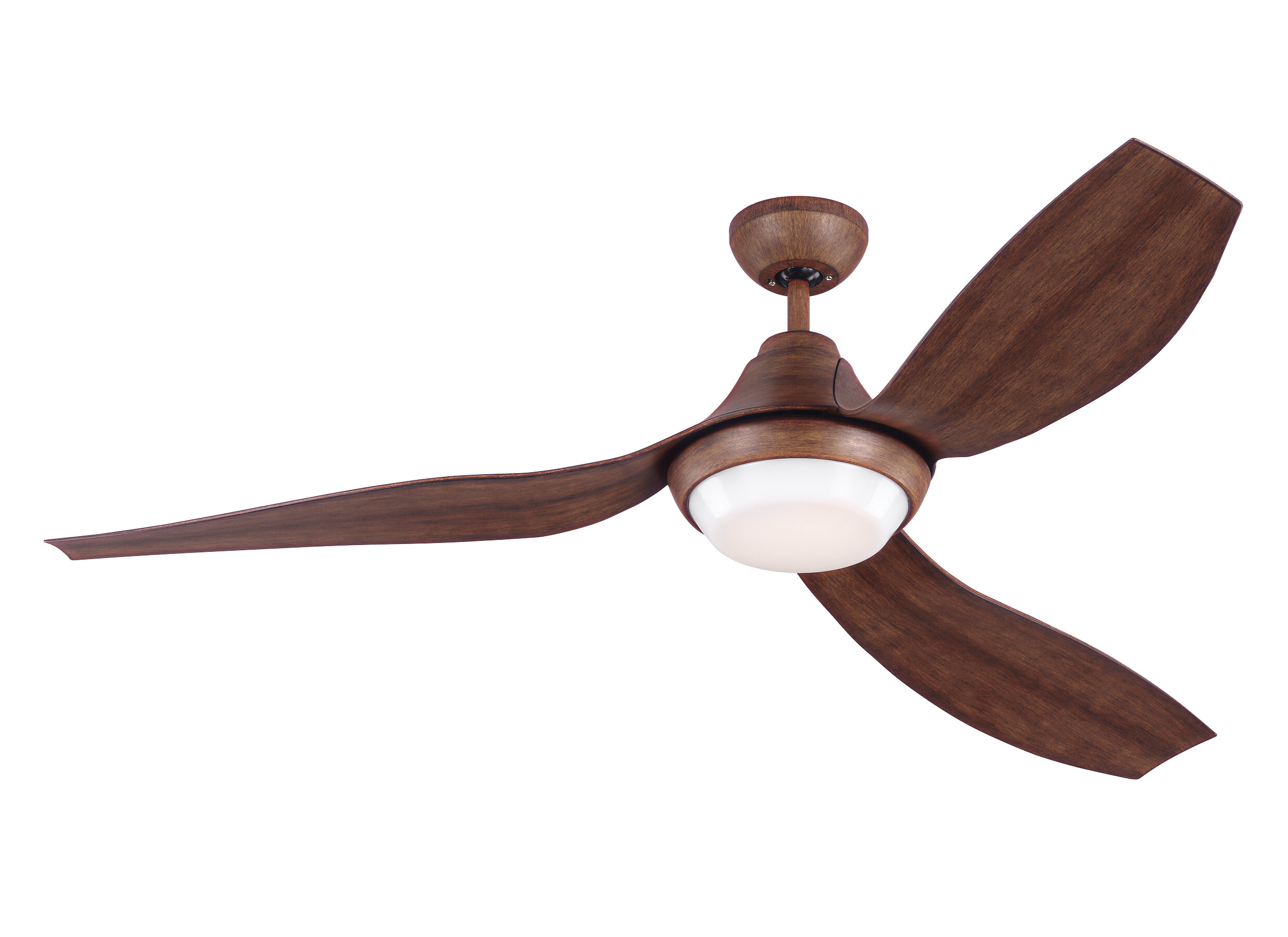Monte Carlo Fan Company 56 3 Blade Led Propeller Ceiling Fan With Remote Control And Light Kit Included Reviews Perigold