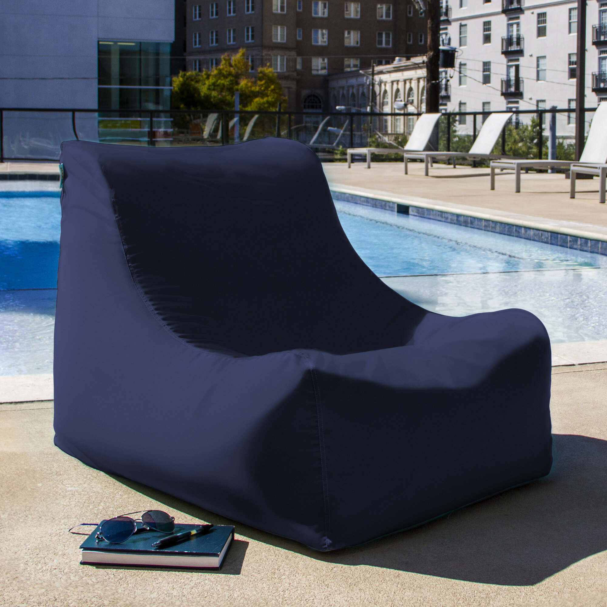 Admirable Ponce Outdoor Medium Bean Bag Lounger Caraccident5 Cool Chair Designs And Ideas Caraccident5Info