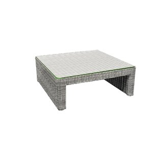 Norman Outdoor Square Wicker Coffee Table