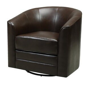 Morefield Swivel Barrel Chair by Andover Mills