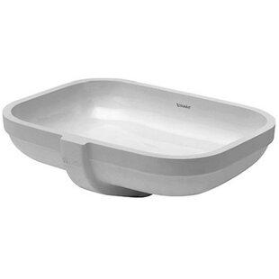 Reviews Happy D. Ceramic Rectangular Undermount Bathroom Sink with Overflow By Duravit