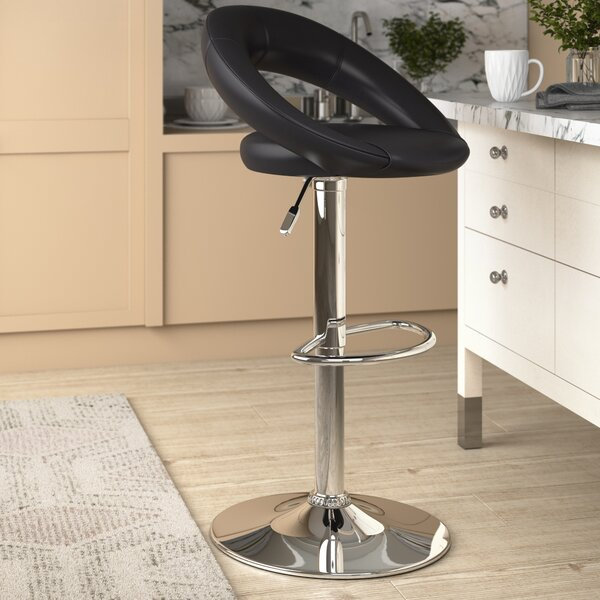 Metro Lane Basham Sorrento Height Adjustable Swivel Bar Stool Reviews Wayfair Co Uk