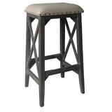 Wissem X-Side Washed Wooden 30 Bar Stool by Charlton Home®