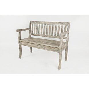 Leonora Wood Storage Bench by Highland Dunes