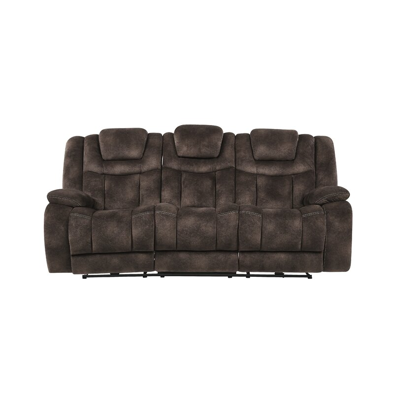 Red Barrel Studio Armel Power Adjustable Headrest Reclining Sofa