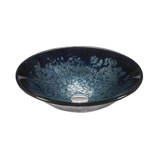 Legion Furniture Glass Circular Vessel Bathroom Sink