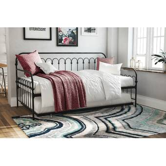 Novogratz Bright Pop Metal Twin Daybed With Trundle