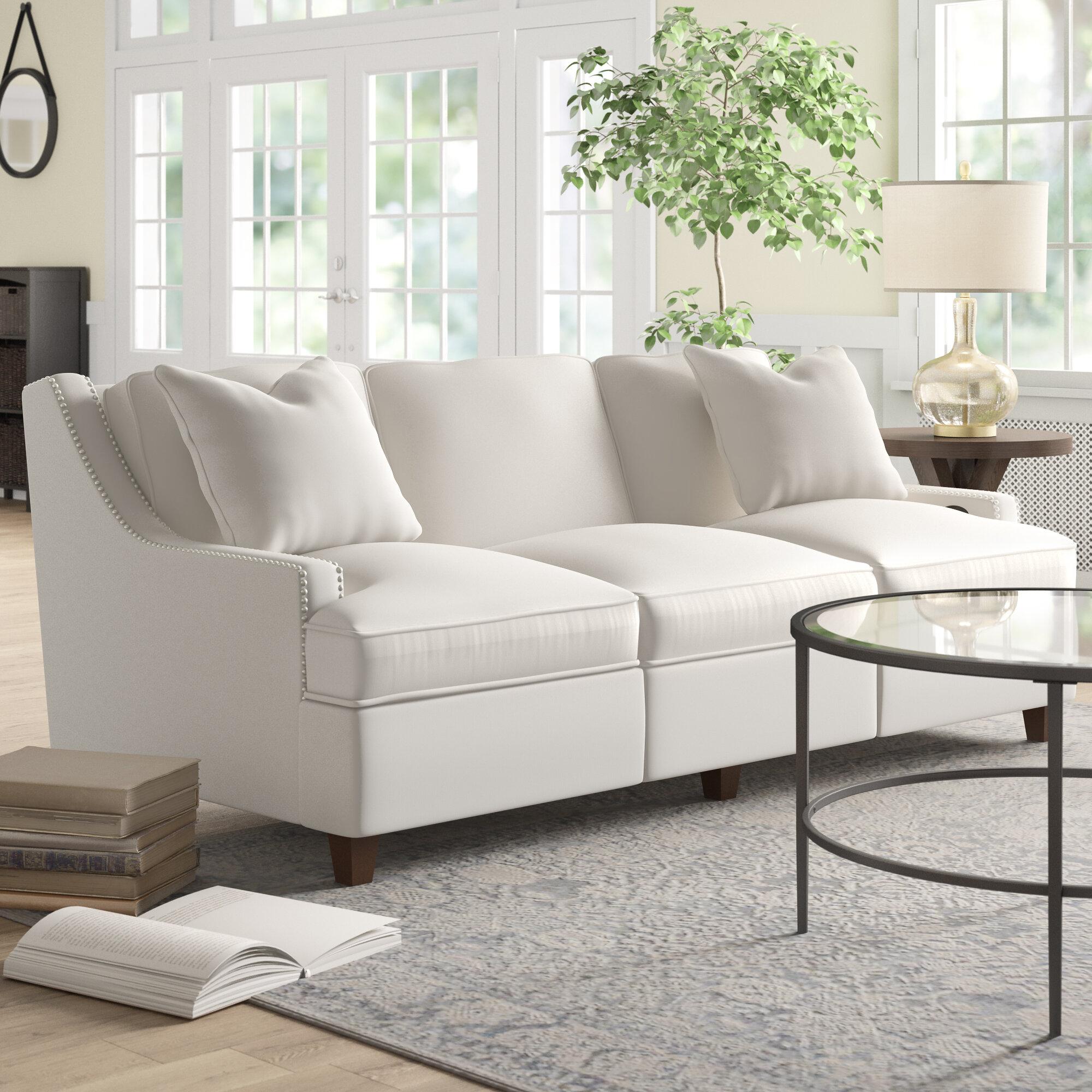 Wayfair Custom Upholstery Medora 83 Reclining Recessed Arm Sofa Birch Lane