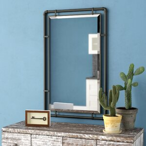 Scottie Industrial Metal Wall Mirror