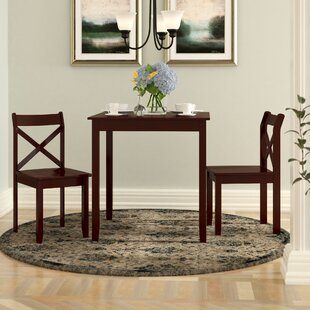 Flossmoor 3 Piece Dining Set by Charlton Home Great price