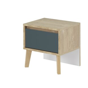 Shallowater 1 Drawer Bedside Table By Mercury Row