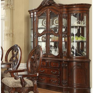 Shipley Lighted China Cabinet by Astoria Grand