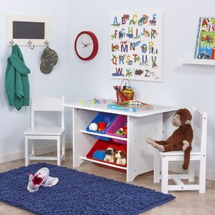 Pete Kids 6 Piece Arts And Crafts Table Chair Set