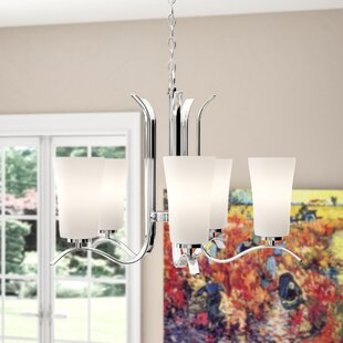 Alcott Hill Guerro 5-Light Shaded Chandelier