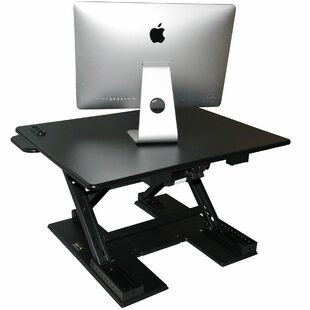 Lorena Electronic Height Adjustable Standing Desk Converter by Symple Stuff