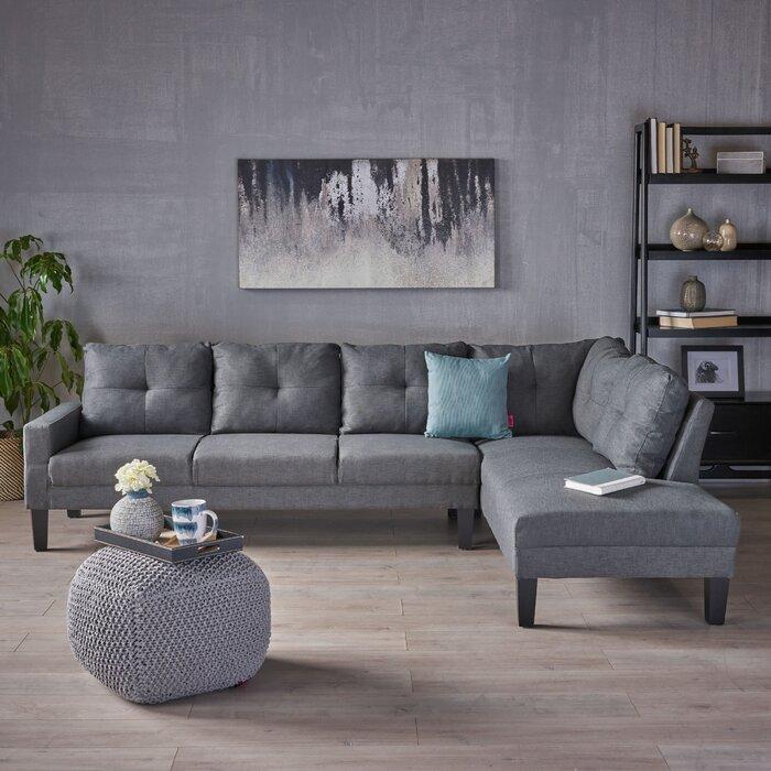 Miraculous Elodia Right Hand Facing Sectional Short Links Chair Design For Home Short Linksinfo