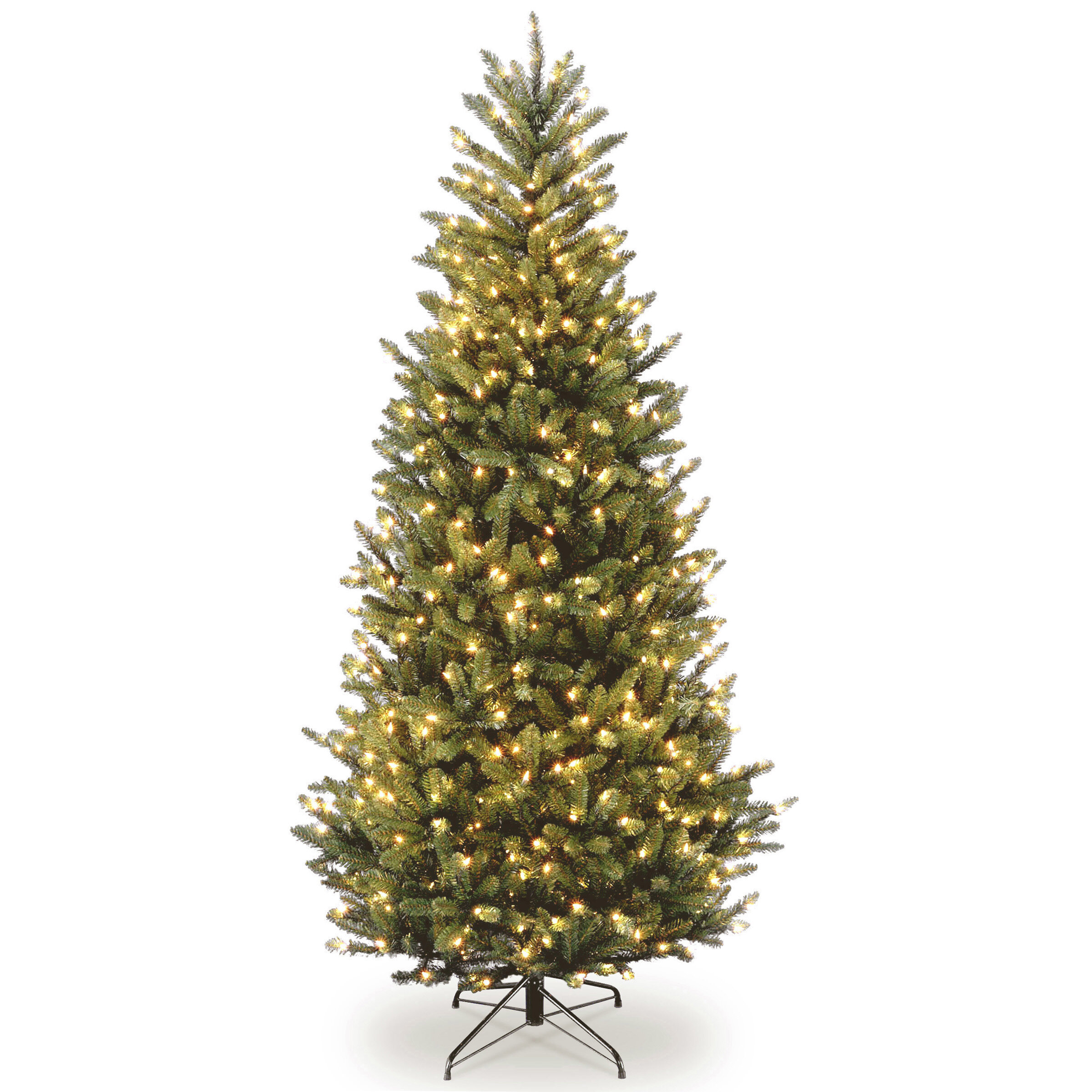 The Holiday Aisle Natural Fraser Slim Green Fir Trees Artificial ...