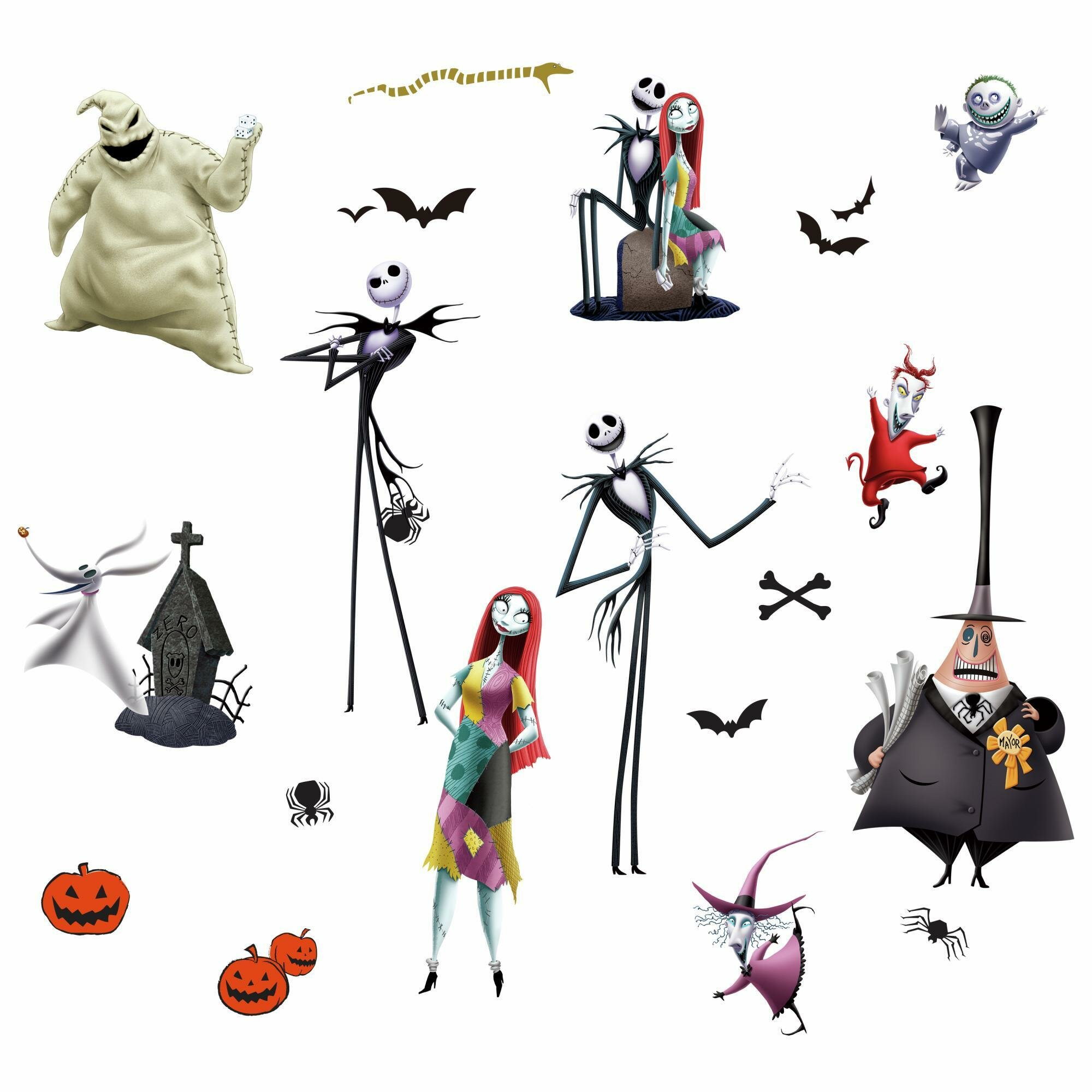 Room Mates The Nightmare Before Christmas Peel And Stick 21 Piece