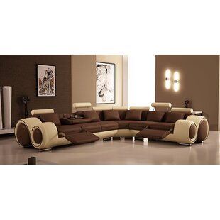 Genial Hematite Reclining Sectional