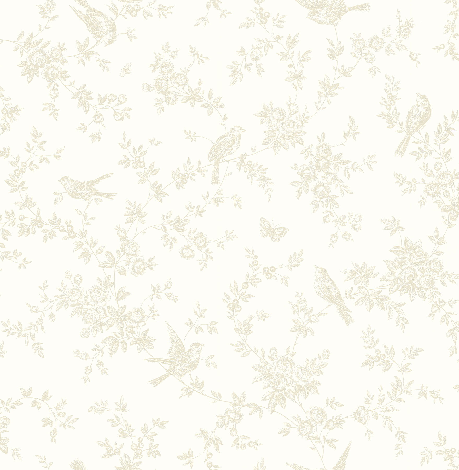 Ophelia Co Thorp Floral Trails 33 X 20 5 Wallpaper Roll Wayfair