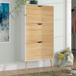 Best Reviews Mateer 3 Drawer 9-Pair Shoe Storage Cabinet By Langley Street