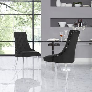 Hannatou Foam Upholstered Dining Chair (Set of 2) by Everly Quinn