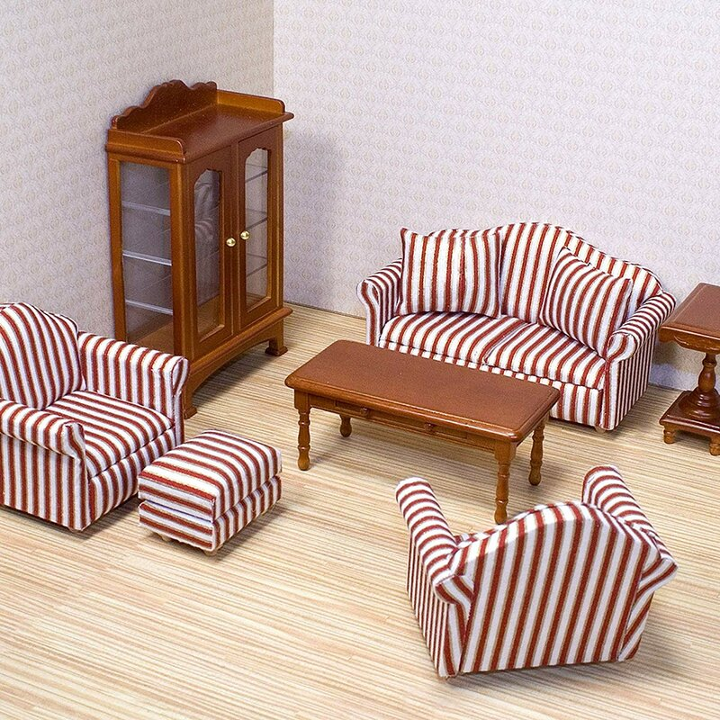 1:12 Dollhouse  Room Furniture Brown Armchair Doll House  Hot Sale