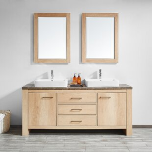 Kemp 72 Double Bathroom Vanity Set with Mirror by Union Rustic