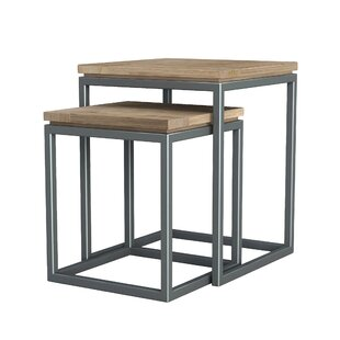 Inexpensive Hinkel 2 Piece Nesting Tables by Williston Forge